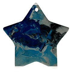 Blue Abstract No  6 Star Ornament (two Sides)