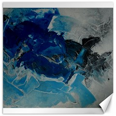 Blue Abstract No  6 Canvas 12  X 12