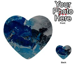 Blue Abstract No. 6 Multi-purpose Cards (Heart)