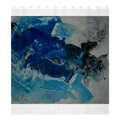 Blue Abstract No  6 Shower Curtain 66  X 72  (large)