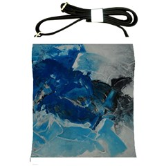 Blue Abstract No  6 Shoulder Sling Bags