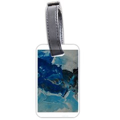Blue Abstract No  6 Luggage Tags (two Sides)