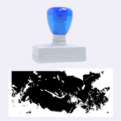 Blue Abstract No. 6 Rubber Stamps (Large)