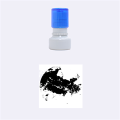 Blue Abstract No. 6 Rubber Round Stamps (Small)