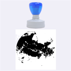 Blue Abstract No. 6 Rubber Round Stamps (Large)
