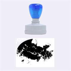 Blue Abstract No  6 Rubber Oval Stamps