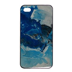 Blue Abstract No. 6 Apple iPhone 4/4s Seamless Case (Black)