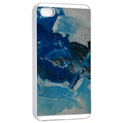 Blue Abstract No. 6 Apple iPhone 4/4s Seamless Case (White)