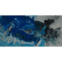 Blue Abstract No  6 You Are Invited 3d Greeting Card (8x4)