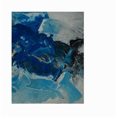Blue Abstract No. 6 Large Garden Flag (Two Sides)