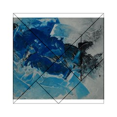 Blue Abstract No. 6 Acrylic Tangram Puzzle (6  x 6 )