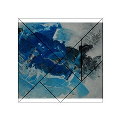 Blue Abstract No  6 Acrylic Tangram Puzzle (4  X 4 )