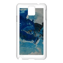 Blue Abstract No  6 Samsung Galaxy Note 3 N9005 Case (white)