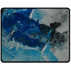 Blue Abstract No  6 Double Sided Fleece Blanket (medium)