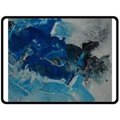 Blue Abstract No  6 Double Sided Fleece Blanket (large)