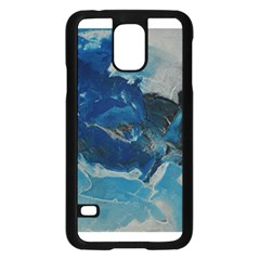 Blue Abstract No. 6 Samsung Galaxy S5 Case (Black)