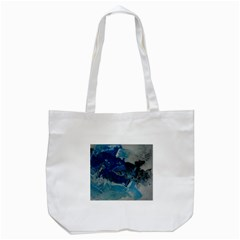 Blue Abstract No. 6 Tote Bag (White)