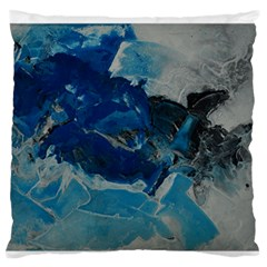 Blue Abstract No. 6 Large Flano Cushion Cases (One Side)