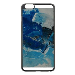 Blue Abstract No  6 Apple Iphone 6 Plus Black Enamel Case