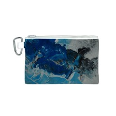 Blue Abstract No. 6 Canvas Cosmetic Bag (S)