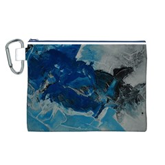 Blue Abstract No. 6 Canvas Cosmetic Bag (L)