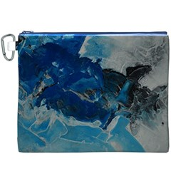 Blue Abstract No. 6 Canvas Cosmetic Bag (XXXL)