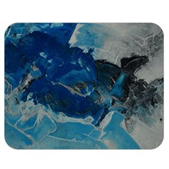 Blue Abstract No. 6 Double Sided Flano Blanket (Medium)