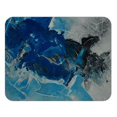 Blue Abstract No. 6 Double Sided Flano Blanket (Large)