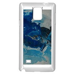 Blue Abstract No. 6 Samsung Galaxy Note 4 Case (White)