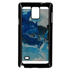 Blue Abstract No  6 Samsung Galaxy Note 4 Case (black)