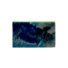 Blue Abstract No. 6 Cosmetic Bag (XS)
