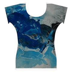 Blue Abstract No. 6 Women s Cap Sleeve Top