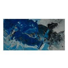 Blue Abstract No  6 Satin Shawl