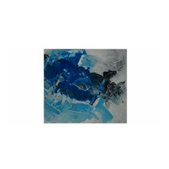 Blue Abstract No  6 Satin Wrap