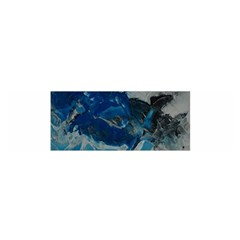 Blue Abstract No. 6 Satin Scarf (Oblong)