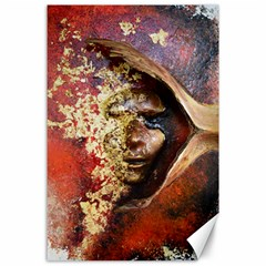 Red Mask Canvas 24  X 36