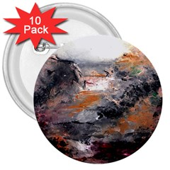Natural Abstract Landscape 3  Buttons (10 Pack)