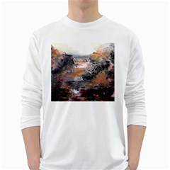 Natural Abstract Landscape White Long Sleeve T-Shirts