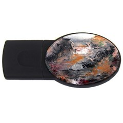 Natural Abstract Landscape Usb Flash Drive Oval (4 Gb)