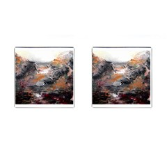 Natural Abstract Landscape Cufflinks (square)