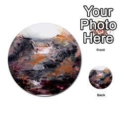 Natural Abstract Landscape Multi Purpose Cards (round)