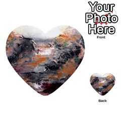 Natural Abstract Landscape Multi-purpose Cards (Heart)