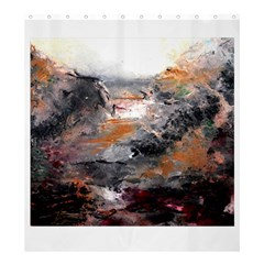 Natural Abstract Landscape Shower Curtain 66  X 72  (large)