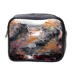 Natural Abstract Landscape Mini Toiletries Bag 2 Side