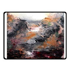 Natural Abstract Landscape Fleece Blanket (Small)