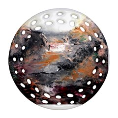 Natural Abstract Landscape Round Filigree Ornament (2Side)