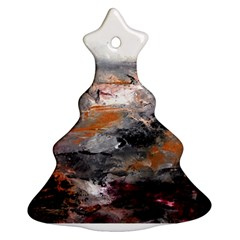 Natural Abstract Landscape Christmas Tree Ornament (2 Sides)