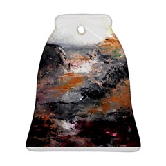 Natural Abstract Landscape Bell Ornament (2 Sides)