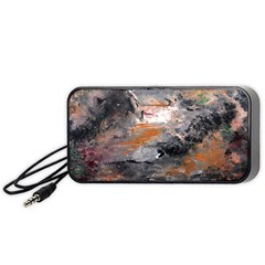Natural Abstract Landscape Portable Speaker (black)