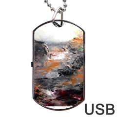 Natural Abstract Landscape Dog Tag USB Flash (One Side)